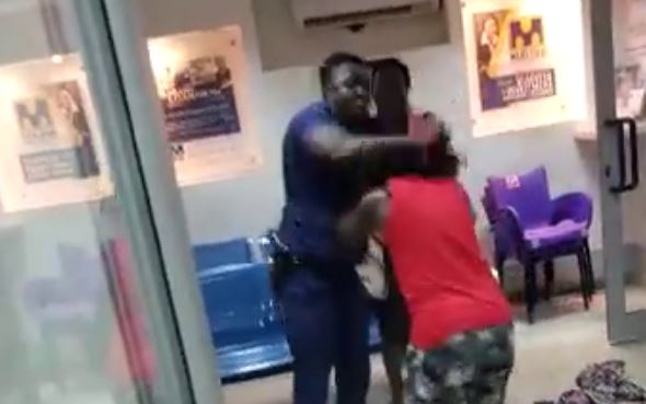 Police brutality at Midlands saving and Loans