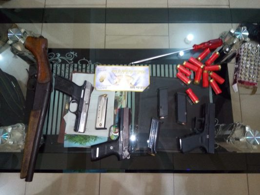Police impound cache of weapons days to new regions referendum   Airnewsonline