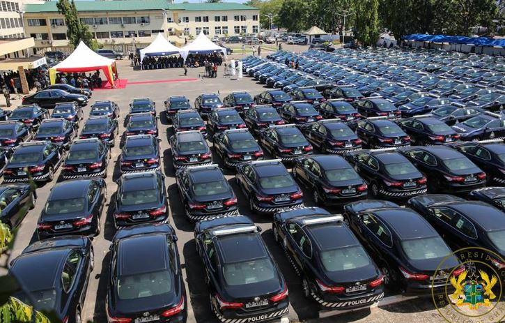 President Akufo-Addo presents 200 vehicles to the Ghana Police Service | Airnewsonline