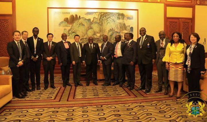 President Nana Addo meets Jack Ma