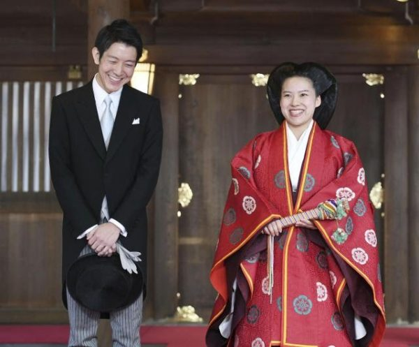 Princess Ayako marries commoner Kei Moriya
