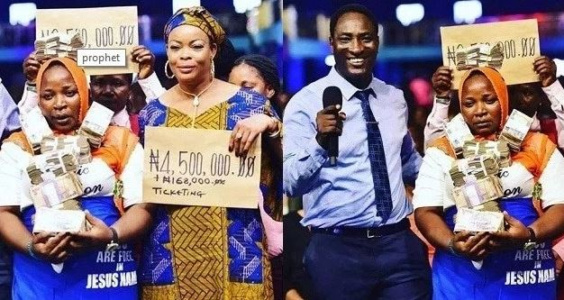 Prophet blesses two former prostitutes with GHC93K to start a new life