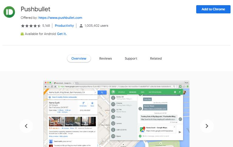 Pushbullet chrome extension | Airnewsonline