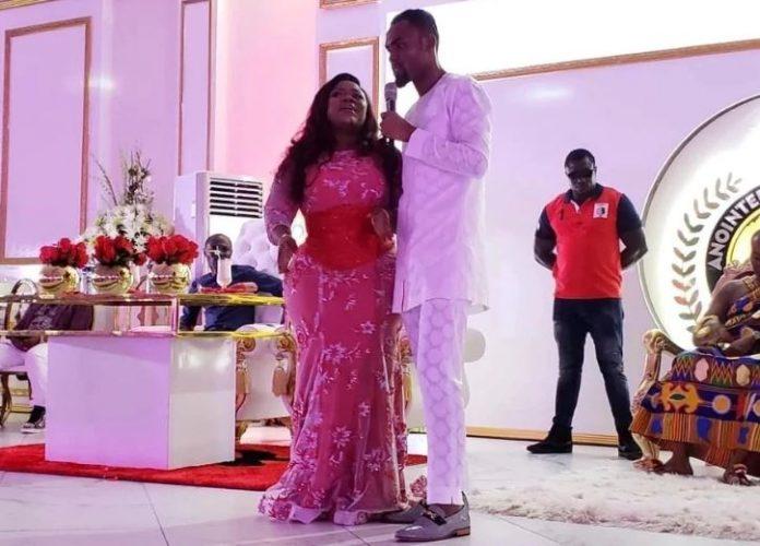 Rev Obofour celebrates wife birthday in a luxurious ceremony