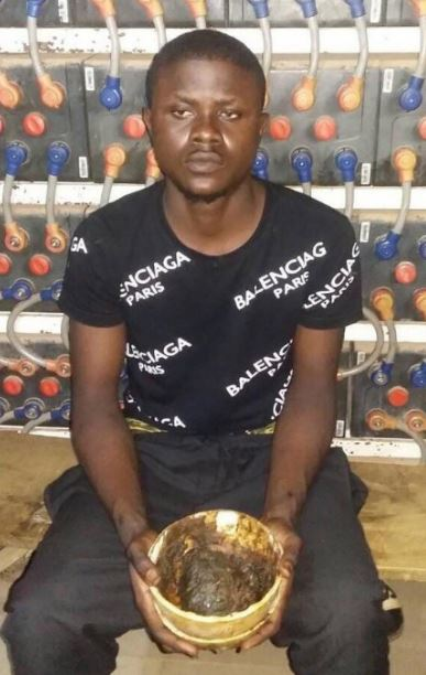Sakawa boy nabbed for attempting to kill mother for money rituals in nigeria