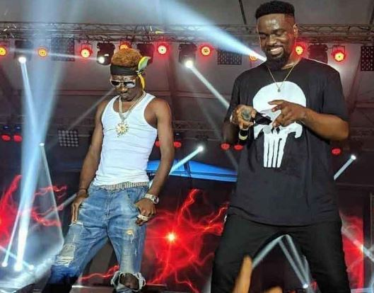 Sarkodie and Supa on stage at Glo Mega Music show 2018 | Airnewsonline