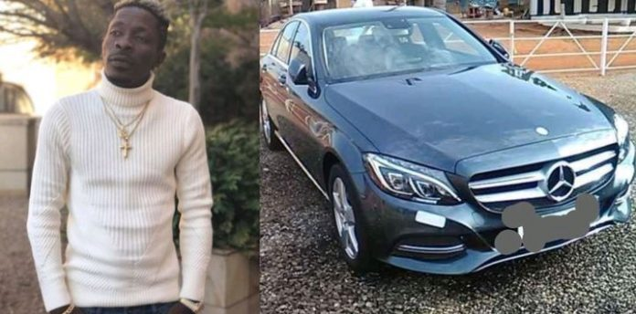 Shatta Wale gets brand new Mercedes Benz car as birthday present