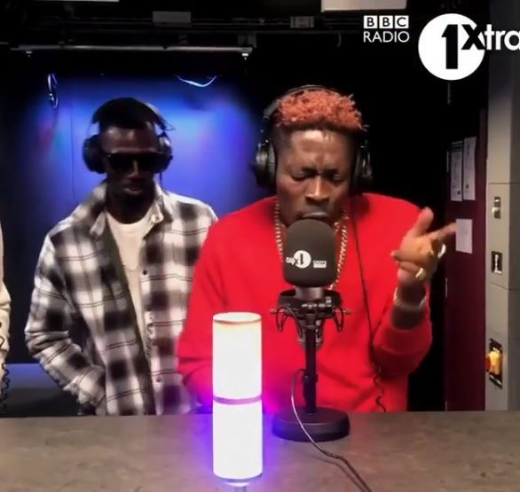 Shatta wale freestyle on BBC