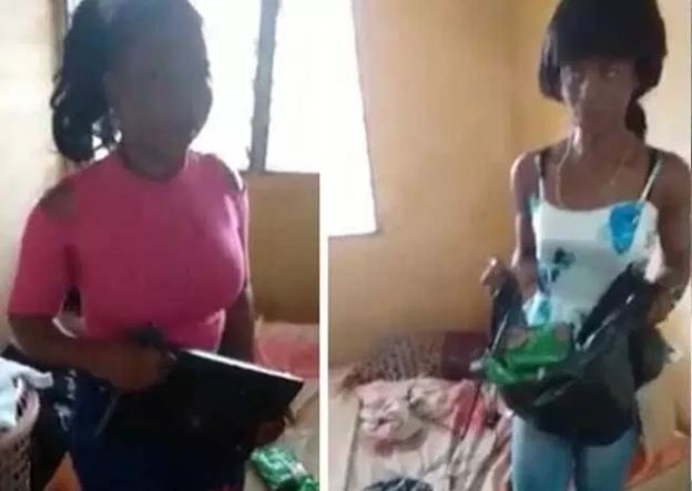 Slay Queens caught stealing laptop and Indomie airnewsonline