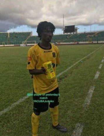 Songne Yacouba given malaria mixture as man of the match