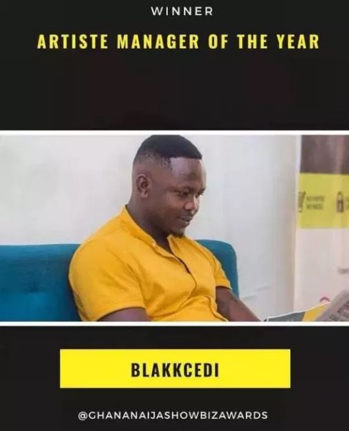 Stonebowy manager Blakk Cedi wins artiste manager of the year award
