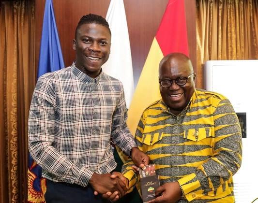 Stonebwoy visits Akufo-Addo at Jubilee House