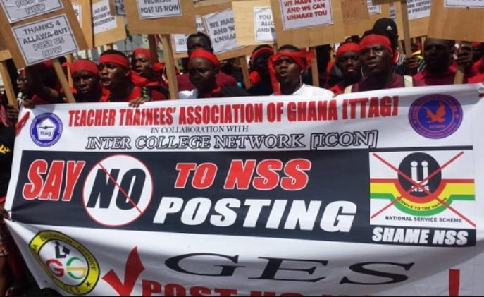 TTAG Jobless teachers beg Mahama to come back in 2020
