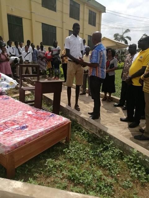 Tallest student in Ghana Ebenezer Mensah