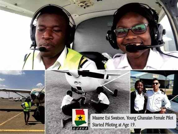 Youngest pilot in Ghana Audrey Esi Swatson | Airnewsonline