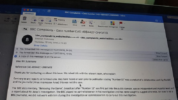 bbc denies number 12