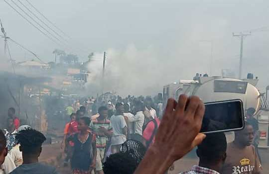gas explosion at Tafo-Krofrom