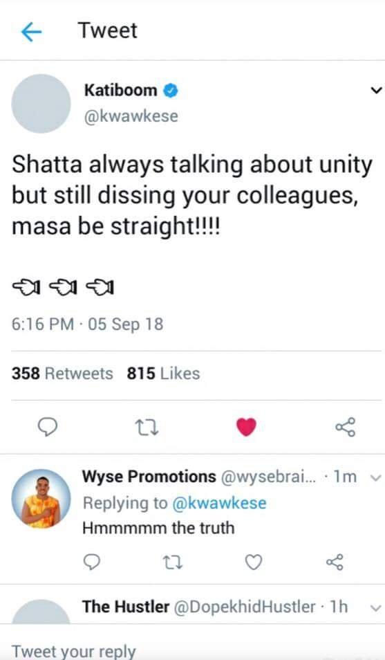 kwaw blast Shatta Wale
