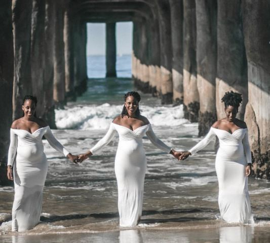 maternity photos of 3 biological sisters pregnant | Airnewsonline