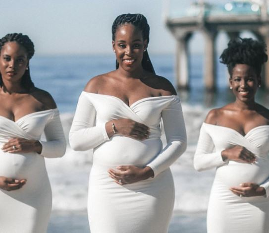maternity photos of 3 biological sisters pregnant at same time | Airnewsonline