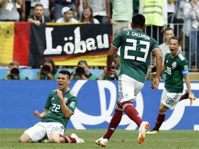 mexico stun champions germany
