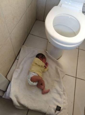 newborn Baby abandoned in church bathroom airnewsonline