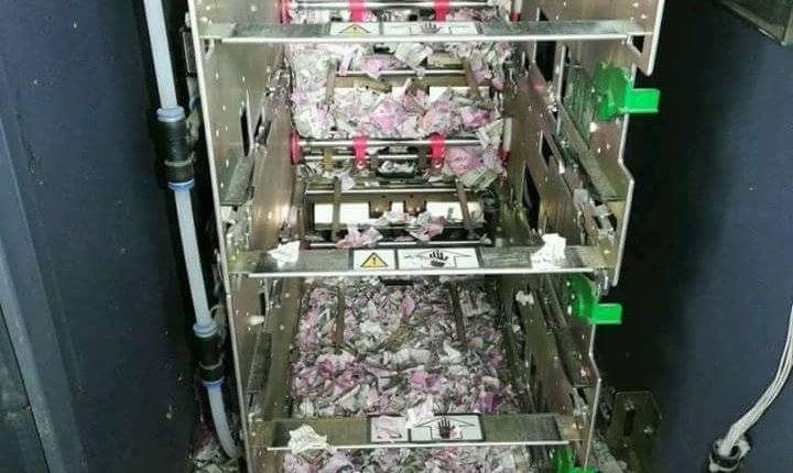 rats chew 1.2 million cash inside ATM