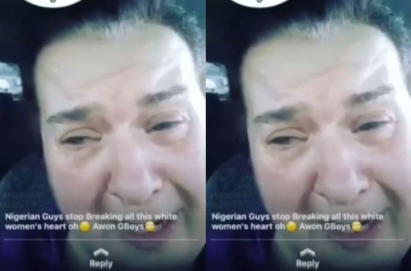 white woman cries after falling for a yahoo boy | Airnewsonline